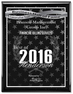 Branson Management Group Inc Receives 2015 Best of Henderson Business Hall of Fame Award
